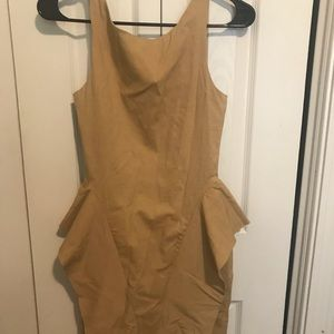 Caribbean Queen Tan Fitted Mini Dress